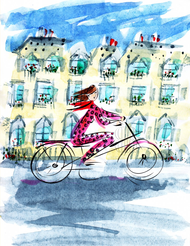 2039 Paris_Woman on Bike_Watermark