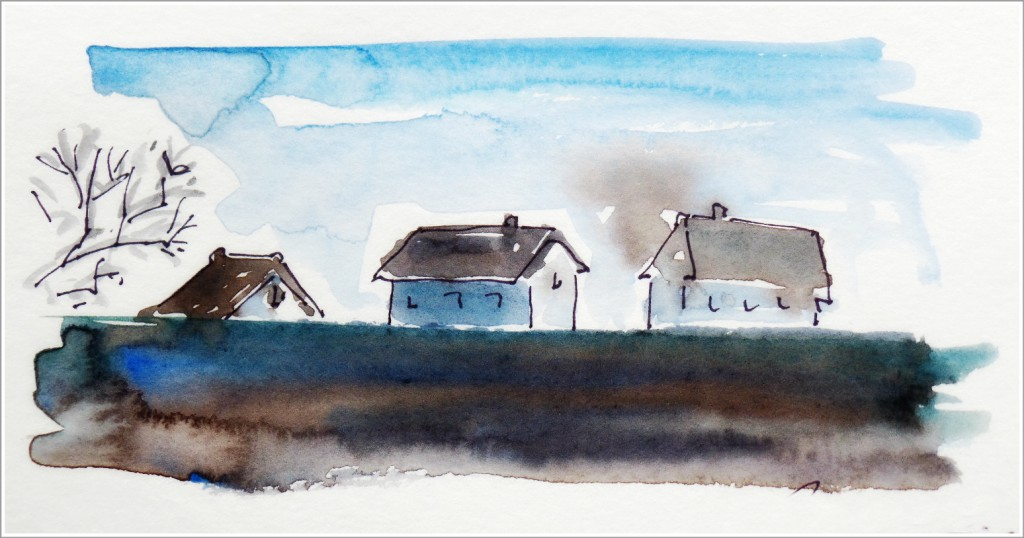 Lilianne Milgrom Dinan winter watercolor II